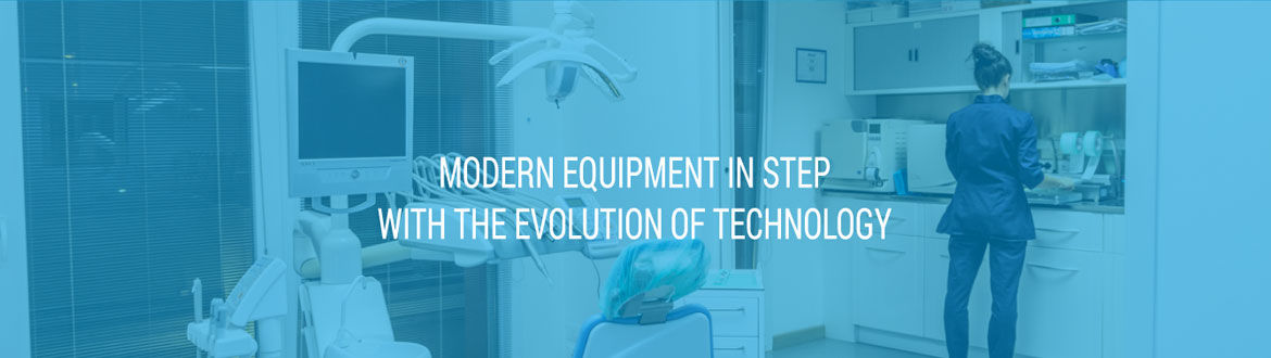 modern equipment in step with the evolution of technology